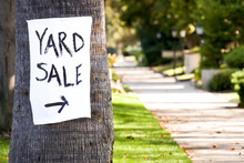 Hand Painted Yard Sale Sign Wi...