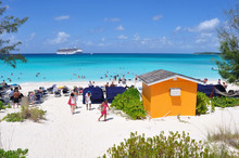 Beach In Half Moon Cay, Bahamas