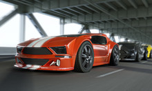 Exotic Race Car High Speed Sho...