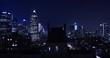 New York city skyline at night - time lapse