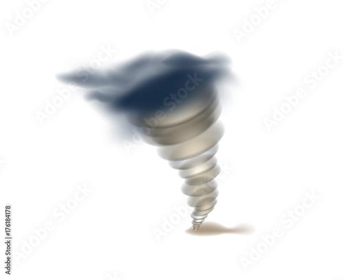 Photo Tornado swirl isolated icon