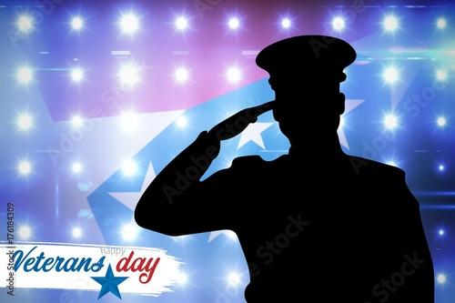 Aluminium Prints Composite image of logo for veterans day in america