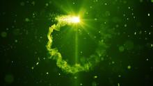 Green Fiery Circle Light Trail...