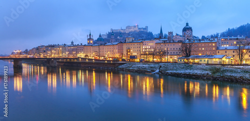Fototapety, obrazy: Beautiful scenic landscape in winter, Salzburg, Austria, Europe, travel