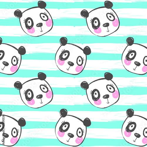 kreskowkowy-wzor-w-pandy-na-pasiastym-tle
