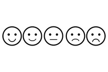Set Of Emoji. Vector Icon Of E...