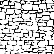 Stones Seamless Pattern. Vecto...