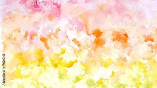 Zdjęcie XXL Akwarela obraz tonem kolorowym - wizerunek dla grafiki