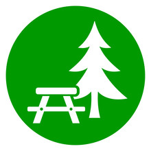 Picnic Table Green Icon