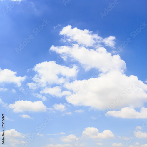 Valokuva  Clouds with blue sky background.