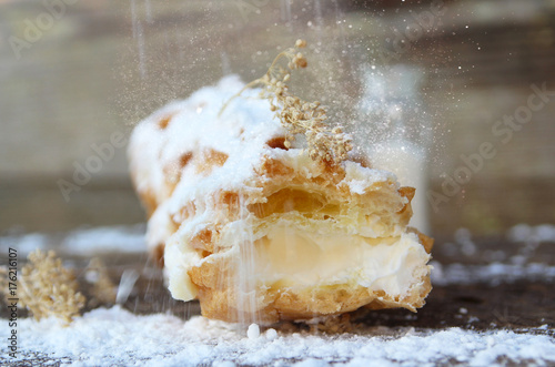 sweet cake and sweet cream. #176216107