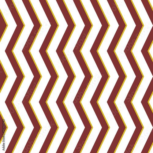 Plakat Bezszwowe tło z brązowym i złotym zygzakiem dla swoich projektów. Nowoczesny ornament wektor. Geometryczny abstrakcyjny wzór