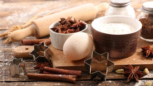 Photo  christmas baking ingredient