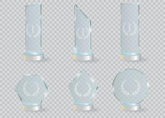 Fototapeta Glass Trophy Award. Vector illustration