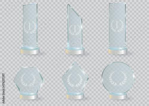 Fotografía  Glass Trophy Award. Vector illustration