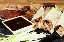 Chinese Aromatic Duck And Pancakes Meal