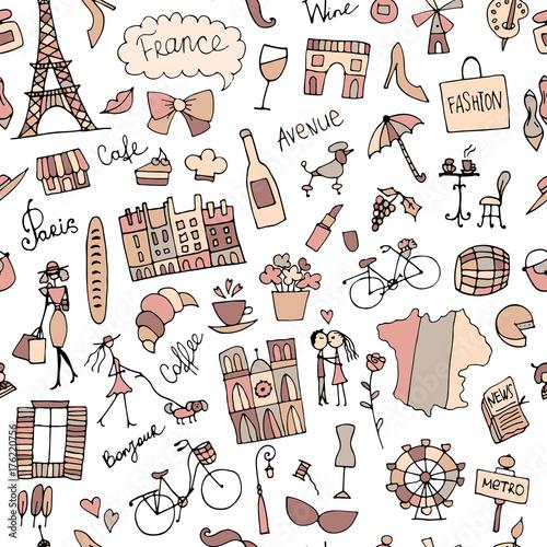 Tapety Francuskie  szkic-francji-wzor-do-projektowania