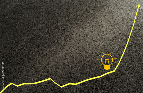 Carta da parati Graph, Kurve Idee Lösung Erfolg - Graph, curve idea solution success