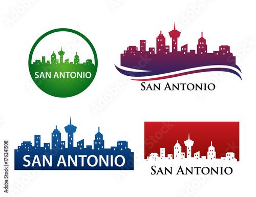 Photo San Antonio City Skyline Logo Template
