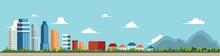 Vector Flat Cartoon Panorama -...