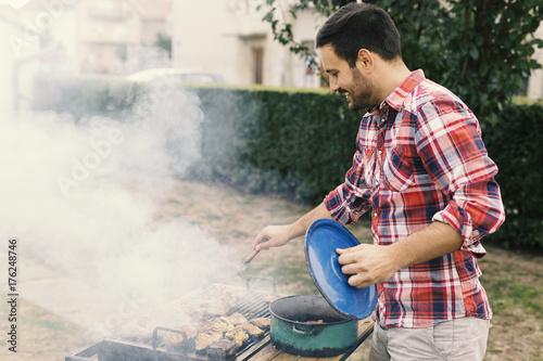 Plakat Dokonywanie BBQ