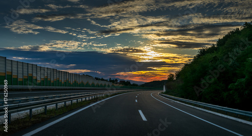 Brand New Highway in Serbia, ready but not opened to traffic Canvas Print