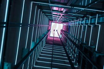 The glass elevator