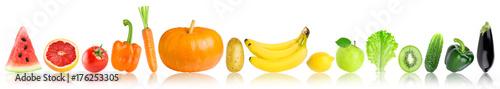 Poster Légumes frais Color fruits and vegetables