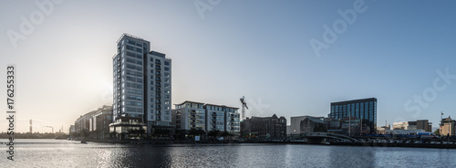 Obraz na dibondzie (fotoboard) Wczesnym rankiem miejskich panoramę, Dublin