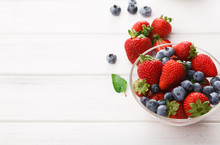Mixed Berries In Glass Bowls C...