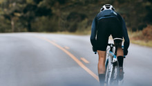 Cyclist Increase Speed By Spri...
