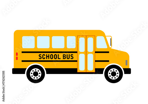 School bus vector icon on white background, isolated object Fototapet