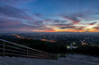 canvas print picture Beautiful golden sky panorama view in evening from public park city view point in Nakhonsithammarat, Thailand