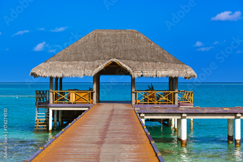Foto op Aluminium Tropical strand Cafe on tropical Maldives island