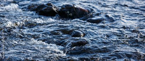 Foto auf Gartenposter Fluss Rapid stream of a mountain river