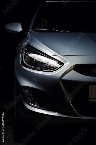 Obraz Close-up of modern car headlights - fototapety do salonu