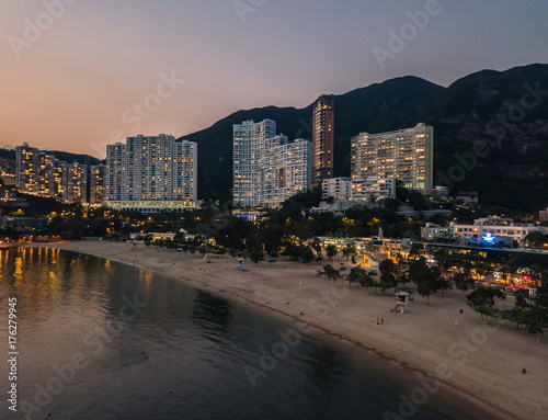 Fotografija  View of Repulse Bay beach in the southern part of Hong Kong Island,The Repulse Bay is one of the high end living area in Hong Kong