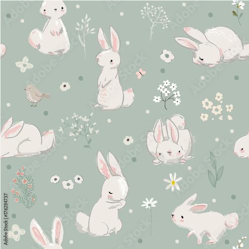 wzor-zajaczki-kroliki