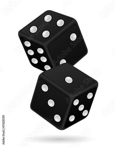 фотография  casino dice stock vector illustration