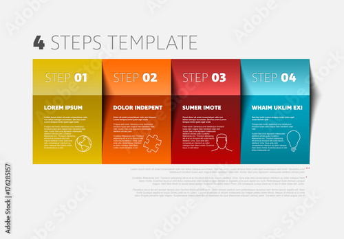 4 steps infographic layout  buy this stock template and explore similar templates at adobe stock