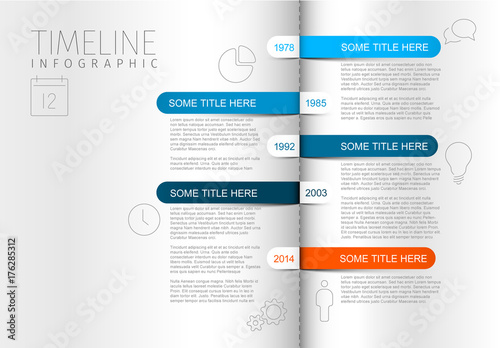 open book timeline infographic layout buy this stock template and