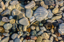 Sea Stones In The Sea Water. P...