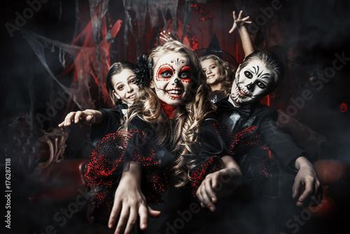 fear on halloween Fototapet