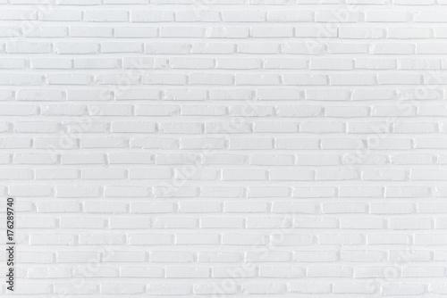 Fototapeta Pattern of white brick wall for background and textured, Seamless white brick wall background obraz na płótnie
