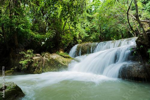 Foto op Canvas Huay Mea Kamin waterfall