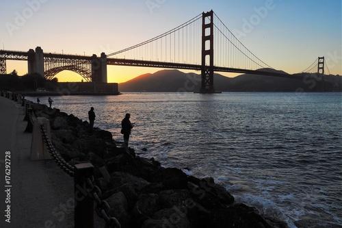 Vászonkép  Golden Gate fishermen