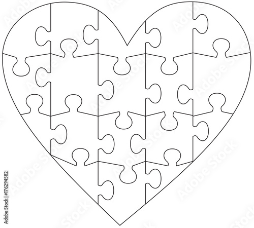 heart puzzle template buy this stock vector and explore similar