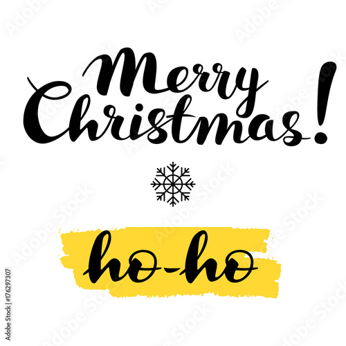 Merry Christmas Writing Images.Merry Christmas Ho Ho Text Lettering Hand Writing
