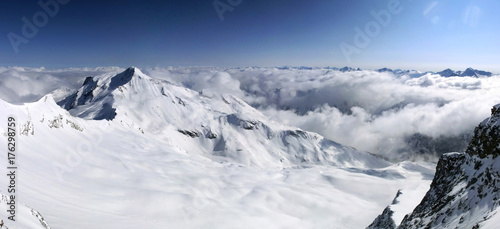 Foto op Plexiglas Landschappen Snow mountains in Austria