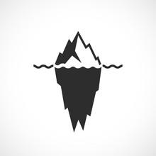 Iceberg Black Silhouette Vector Illustration